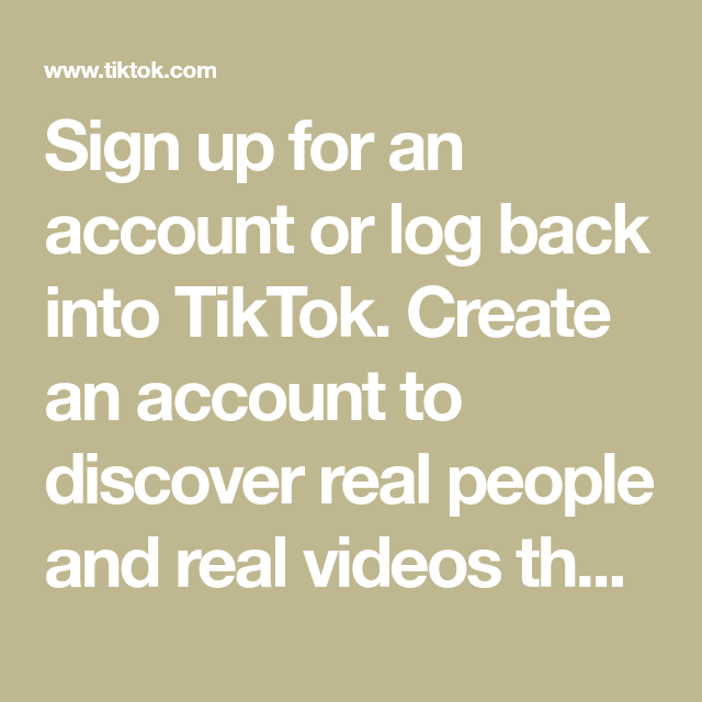 Sign Up For An Account Or Log Back Into Tiktok Create An Account To Discover Real People And Real Videos Tha In 2021 Real Video Funny Gifs Fails Funny Phone Wallpaper