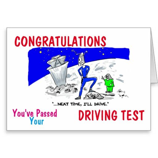 Congratulations you've passed driving test card
