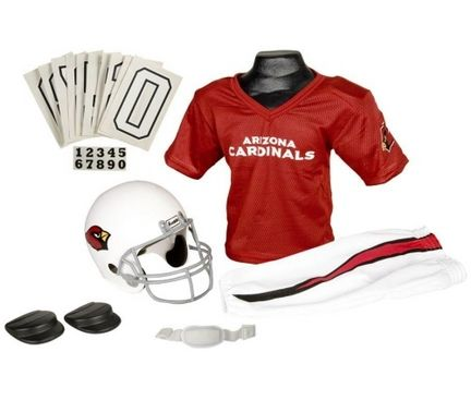 bd453f07 Franklin Arizona Cardinals DELUXE Youth Helmet and Football Uniform ...