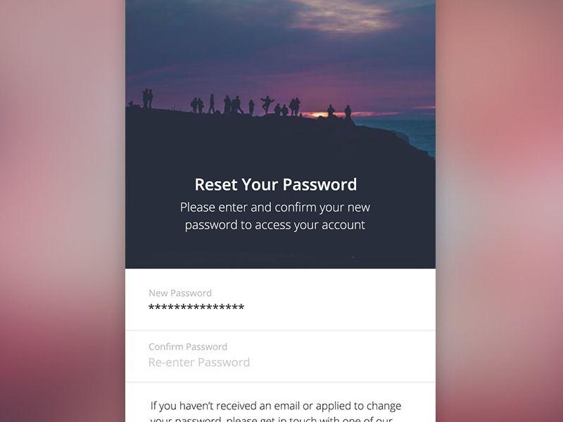 Reset Your Password | Mobile UI Examples | Forgot password