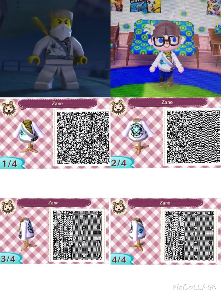 Animal Crossing New Leaf Qr Code Of Zanes Suit From Ninjagos
