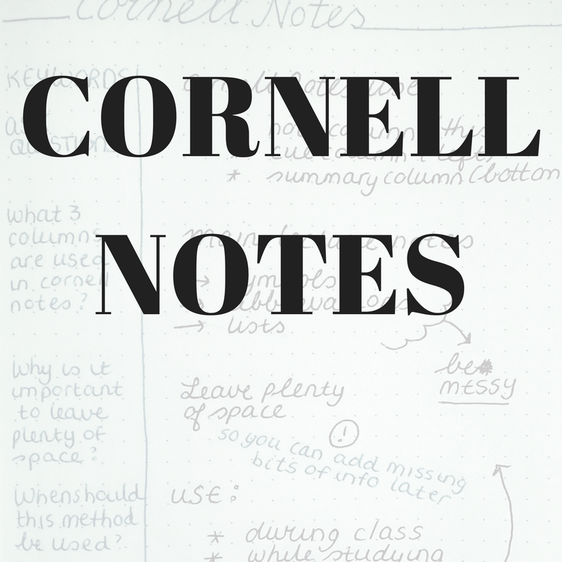 The Cornell Notes System is a note-taking system that is