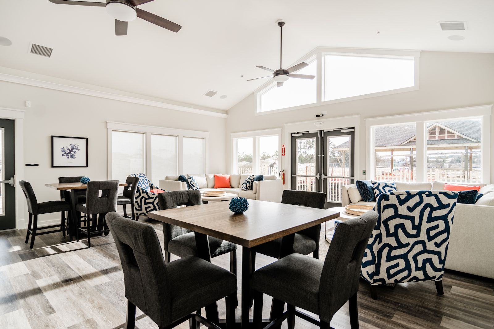 Upscale Ceiling Fan Brand New Clubhouse With Upscale Coastal Furnishings Vaulted