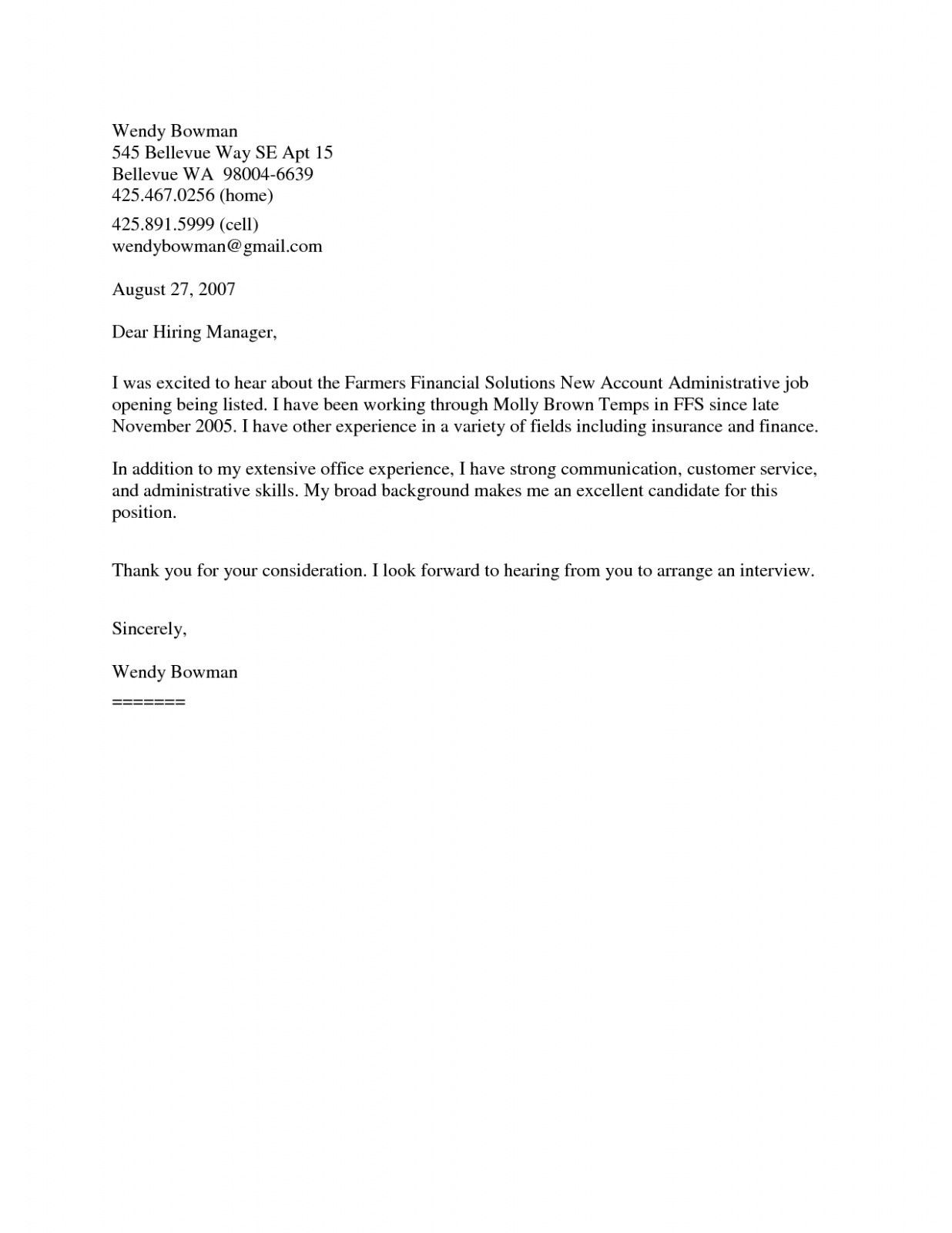 General Resume Cover Letter Template Cover Letter For Resume Resume Cover Letter Examples Resume Cover Letter Template