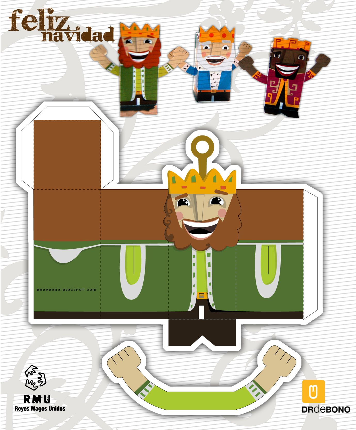 papertoy  Melchor Magic King