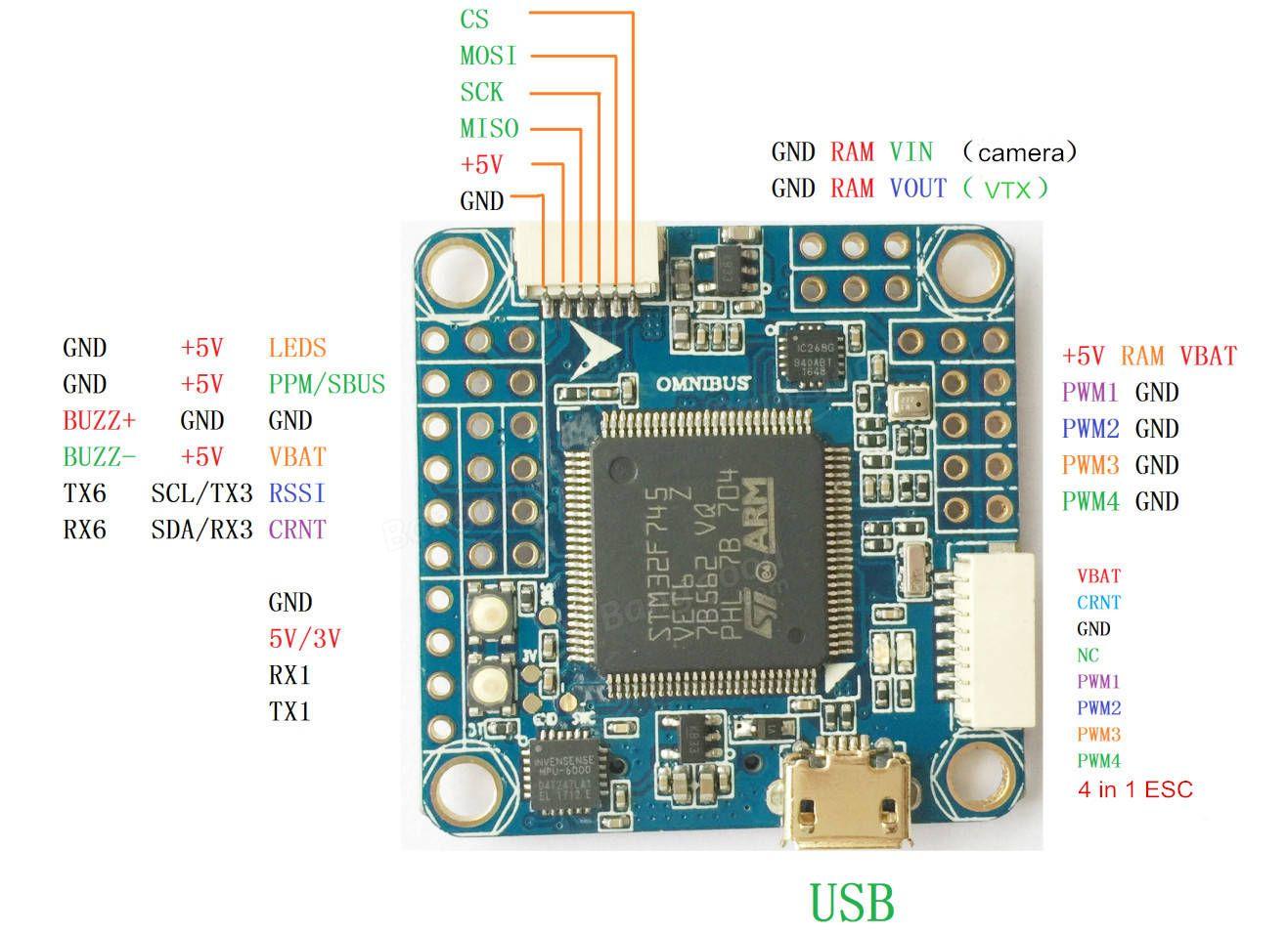 medium resolution of bf3 2 omnibus f7 flight controller stm32 f745 integrated osd built in 5v 2a