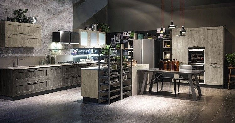 muebles de color gris en la cocina vintage | Casa y decoración ...