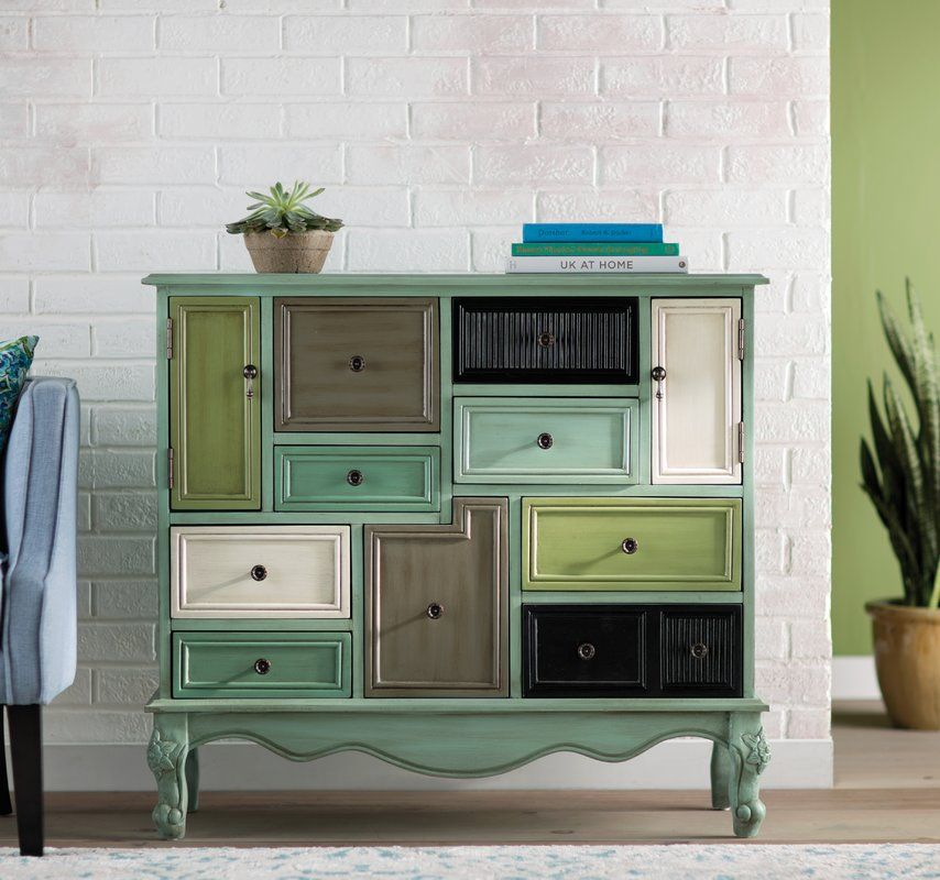 Homestown 9 Drawer 2 Door Accent Cabinet Accent Chests And Cabinets Painted Drawers Accent Cabinet