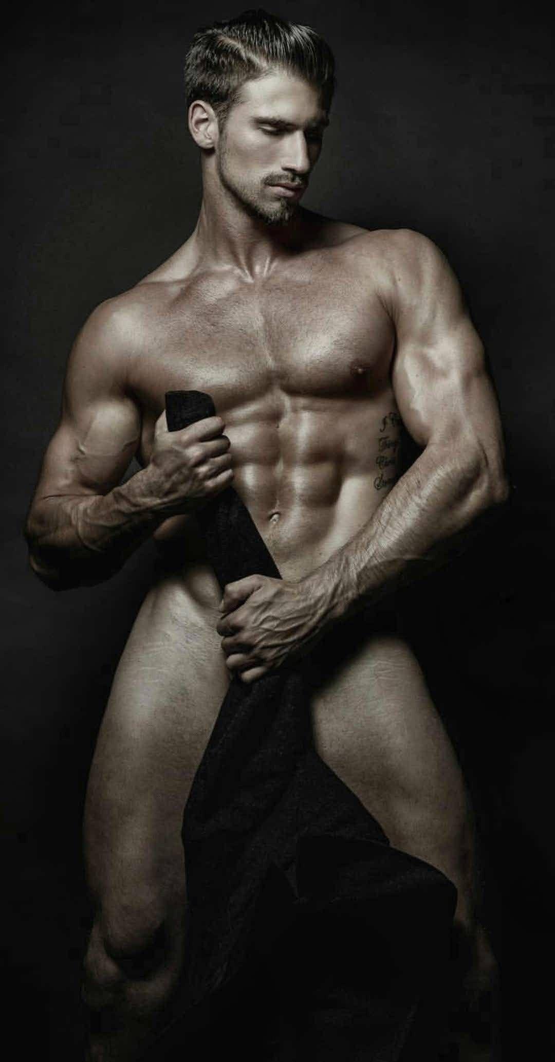 Naked fitness male model