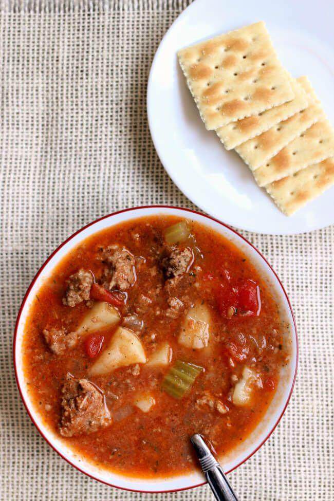 Instant Pot Vegetable Beef Soup images