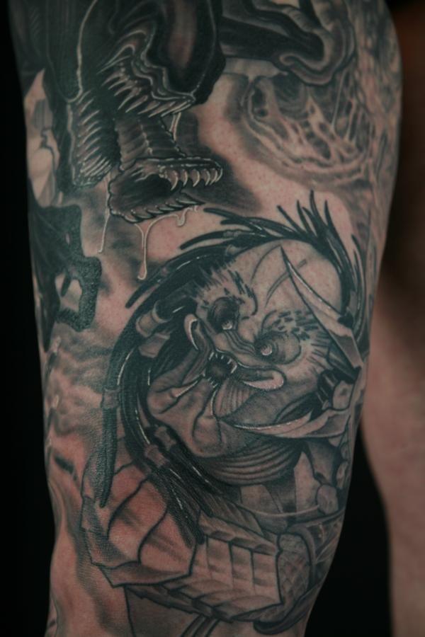 9b7a2eac3 Alien Vs Predator Tattoo Sleeve Alien vs predator tattoo | Alien Vs ...