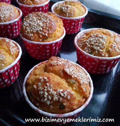 Tuzlu Muffin Tarifi | yemek | Pinterest | Muffins