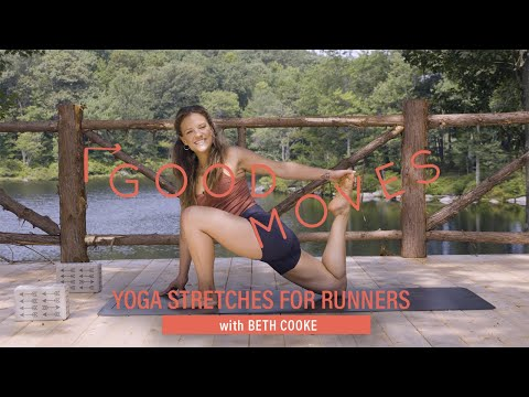 easy yoga stretches for runners with beth cooke  good