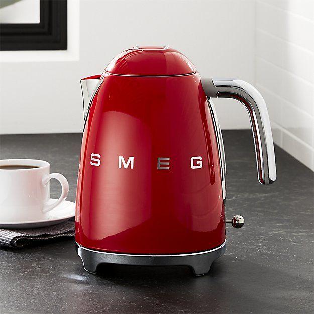 fec54bdf8ae3 SMEG Red Retro Electric Kettle in 2019