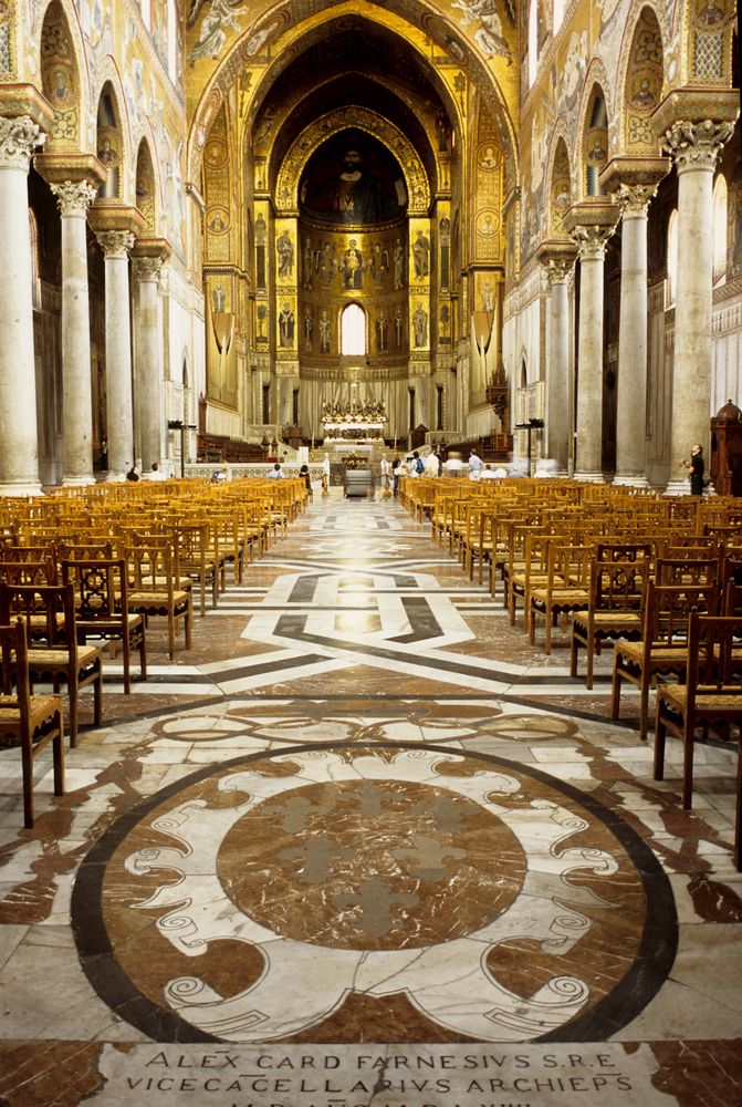 The Basilica of Monreale in Palermo, #Sicily, known for its stunning Byzantine mosaics! www.walksofitaly.com