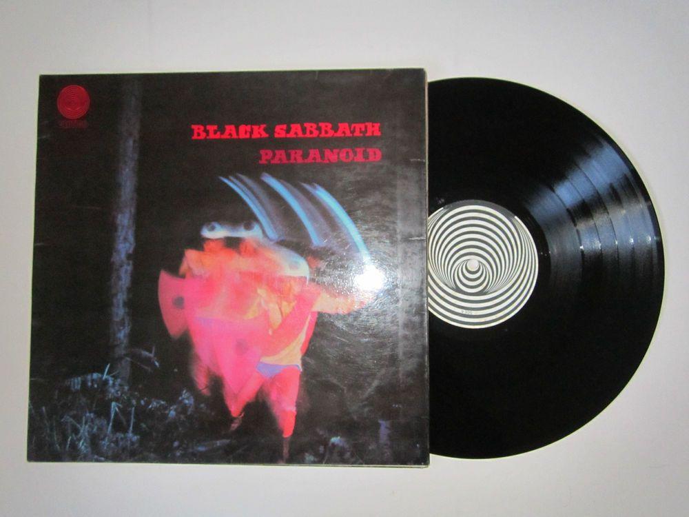 Black Sabbath Paranoid Uk Vertigo Swirl Spiral Vinyl Lp Laminated Gatefold Cover Black Sabbath Vinyl Sales Vinyl