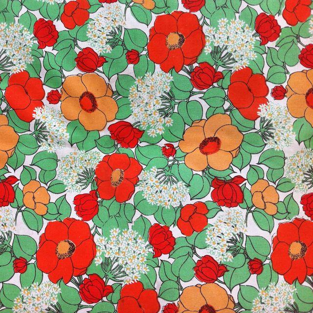 vintage floral textiles