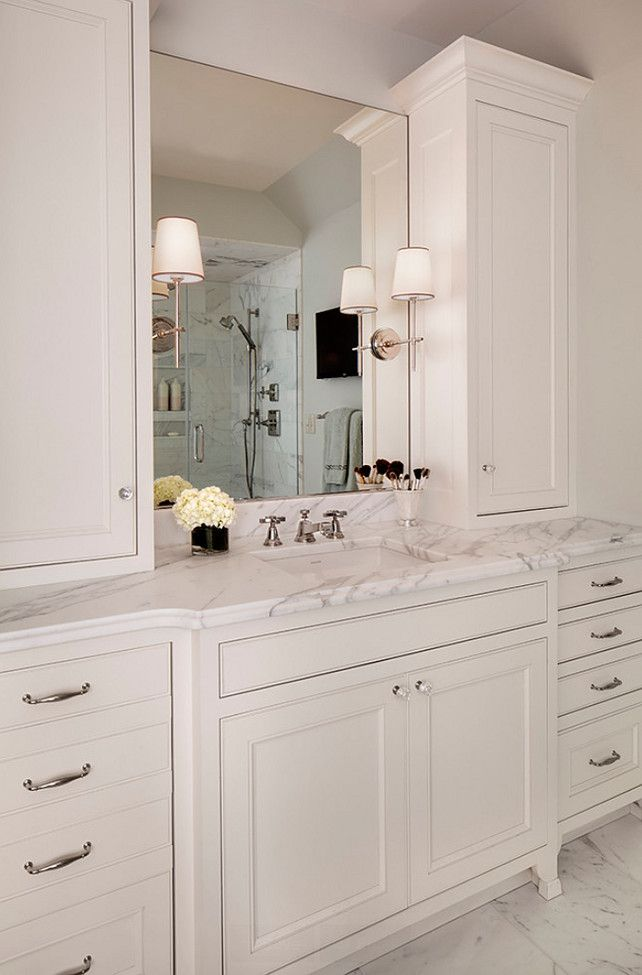 Bathroom Cabinet Ideas Bathroom Features His And Her Vanities With Custom Cabinetry Calaca White Bathroom Cabinets Classic Bathroom Bathroom Cabinets Designs