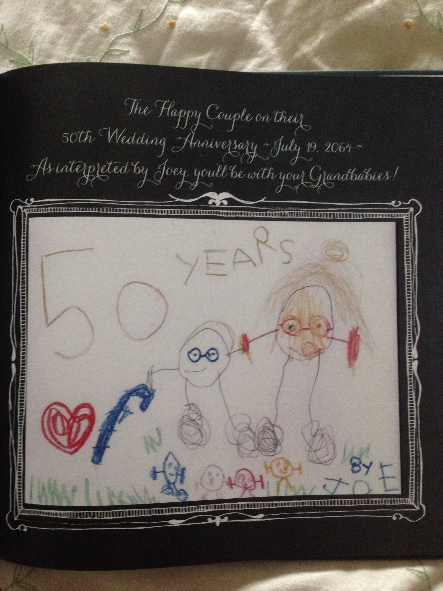 sample thank you letter for wedding shower gift%0A A sample page from the gift book given to the Teacher by her students    A  Lesson Plan for a Happy Marriage    This page features a drawing of the  happy