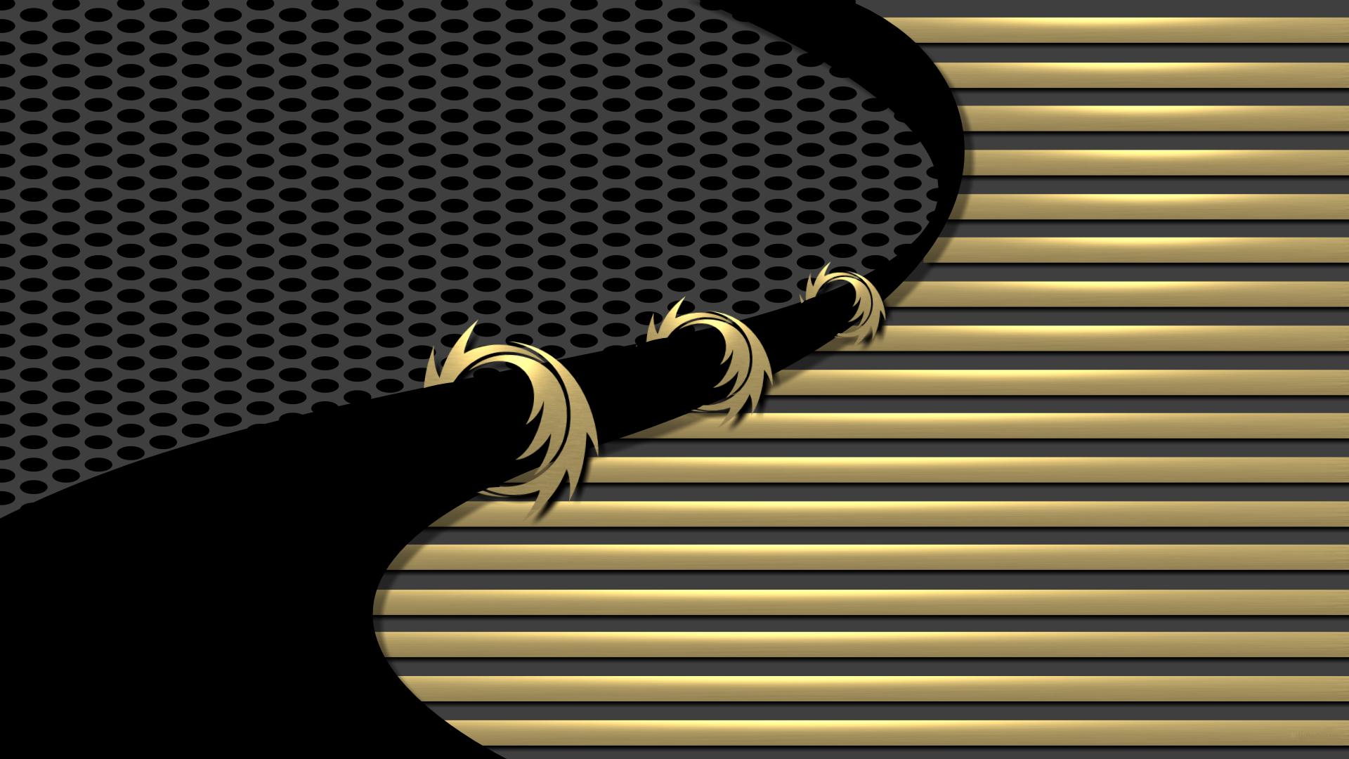 Wallpaper Dice 3d Black And Gold 1920 X 1080 Full Hd