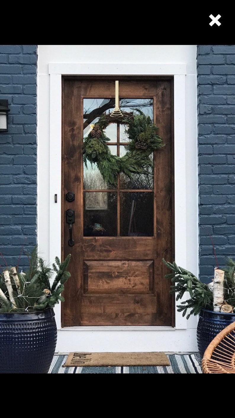 Farmhouse Door;  farm-style, mid century modern, contemporary rustic door,  // handmade, custom fixer upper style entry door for your home.