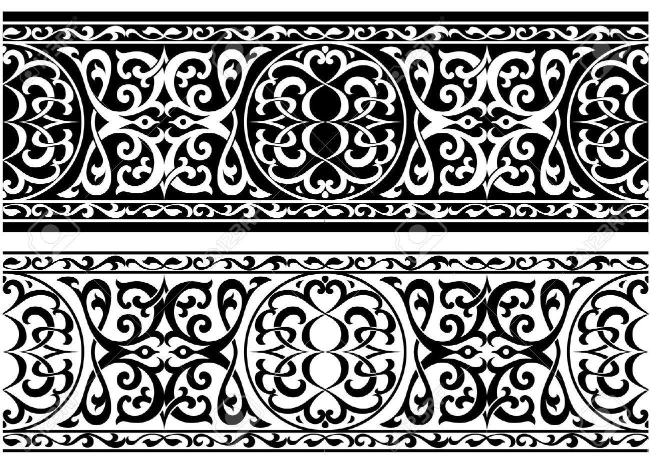 Decorative Arabian Or Persian Ornament In Medieval Style