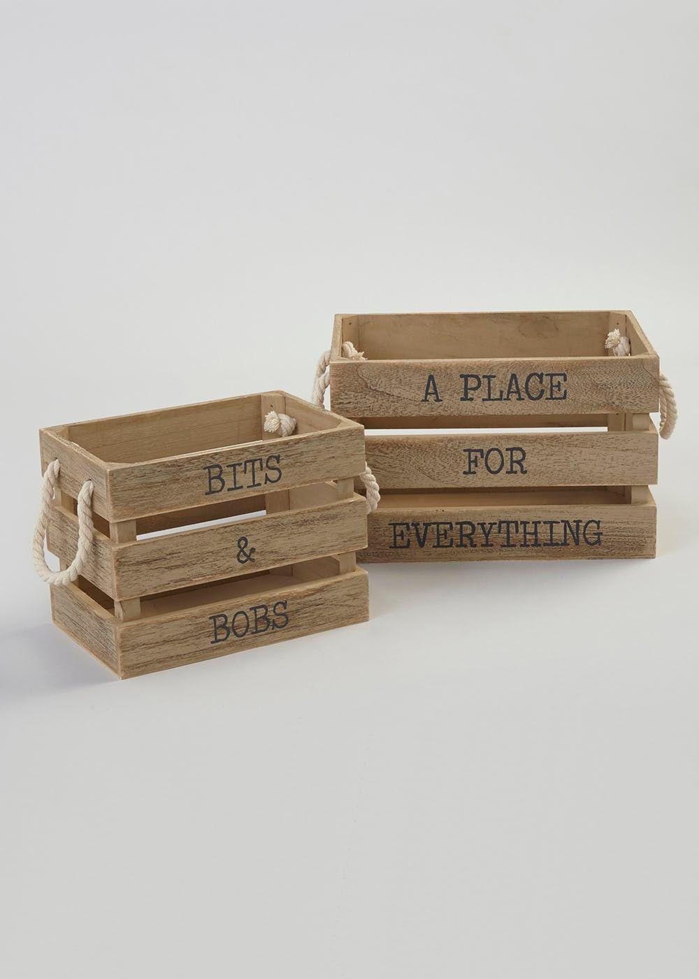 Best Homeware Wooden Storage Boxes Home Furnishing 400 x 300