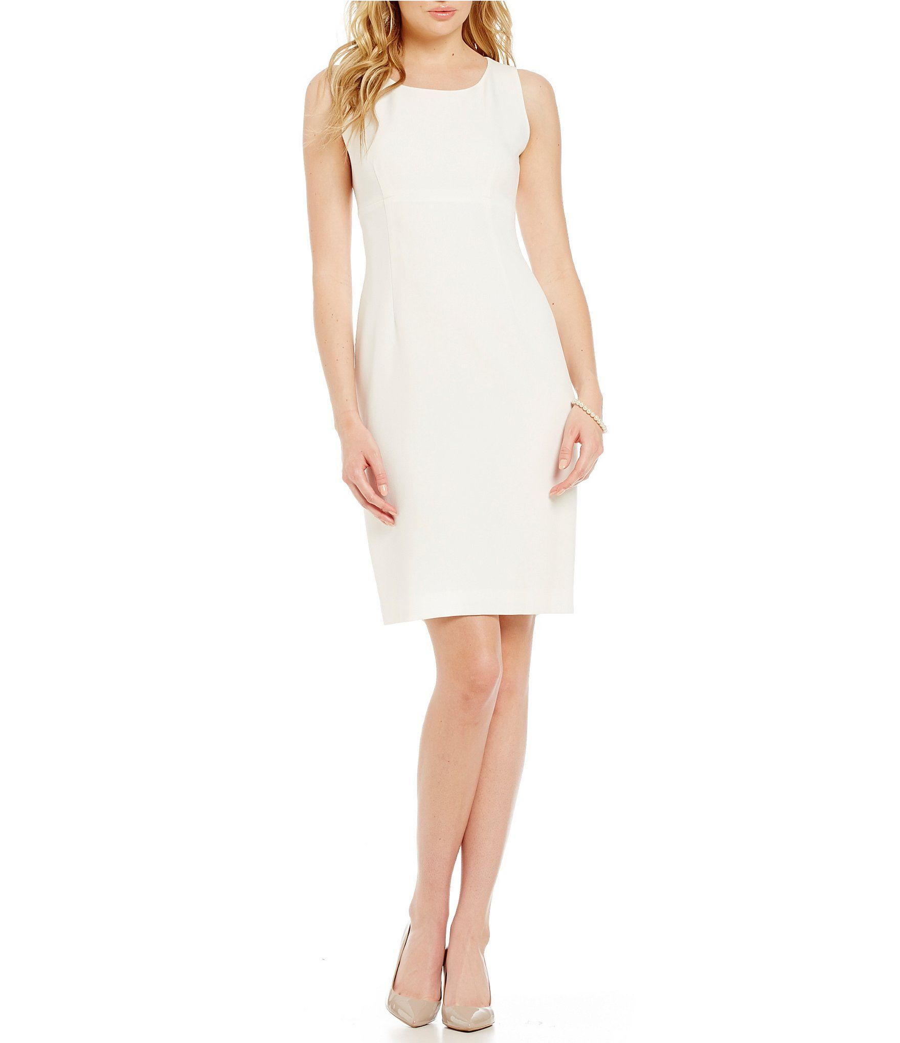 Jcpenney dresses for wedding guest  Kasper Crepe Empire Sheath Dress  Crepes Dillards and Empire
