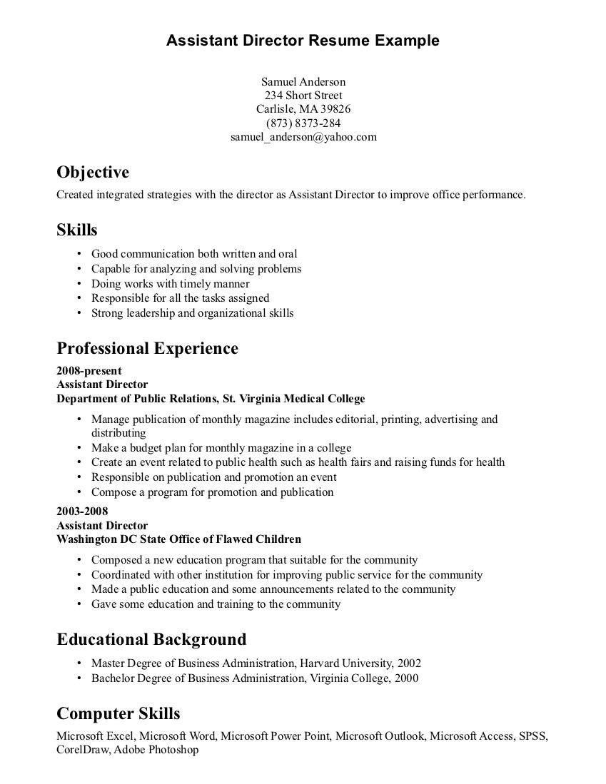 Resume Examples Skills Resume Examples Resume Skills Section Resume Skills Resume Objective Examples