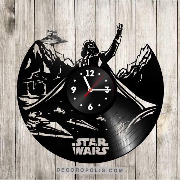 Laser Engraving Clock From Vinyl Record Star Wars Image 1 Clock Vinyl Records Laser Engraving
