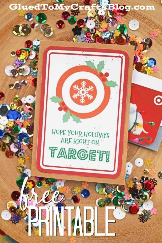 Right On Target Gift Card Printable Printable