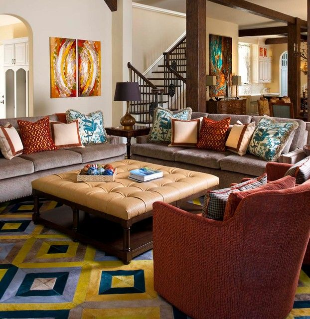 Creeks Of Preston Hollow Residence Eclectic Family Room Dallas By Astleford Interi Colourful Living Room Decor Burgundy Living Room Living Room Designs #teal #and #burgundy #living #room