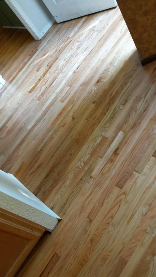 Red Oak Floor Refinished Using The Glitsa Multikote