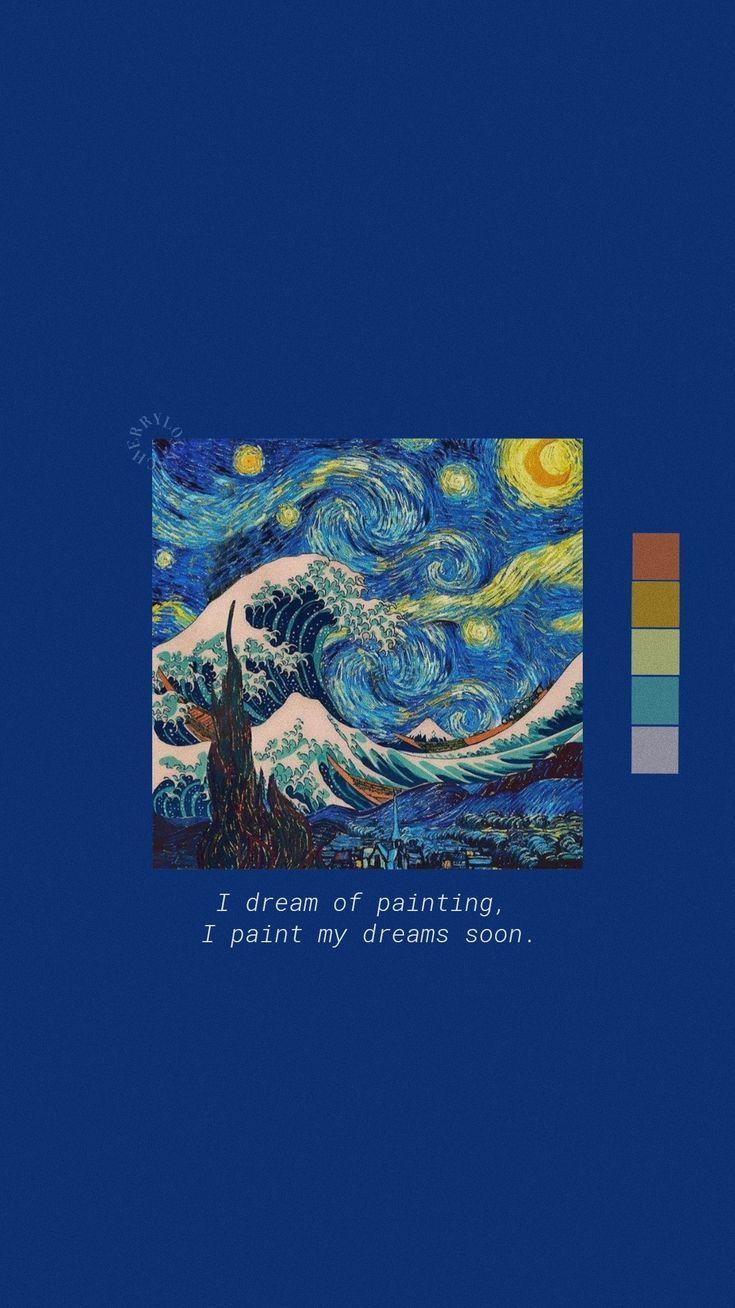 Lockscreen Blue Vicent Van Gogh 𝚟𝚎𝚛𝚛𝚒𝚗𝚞𝚜 Painting