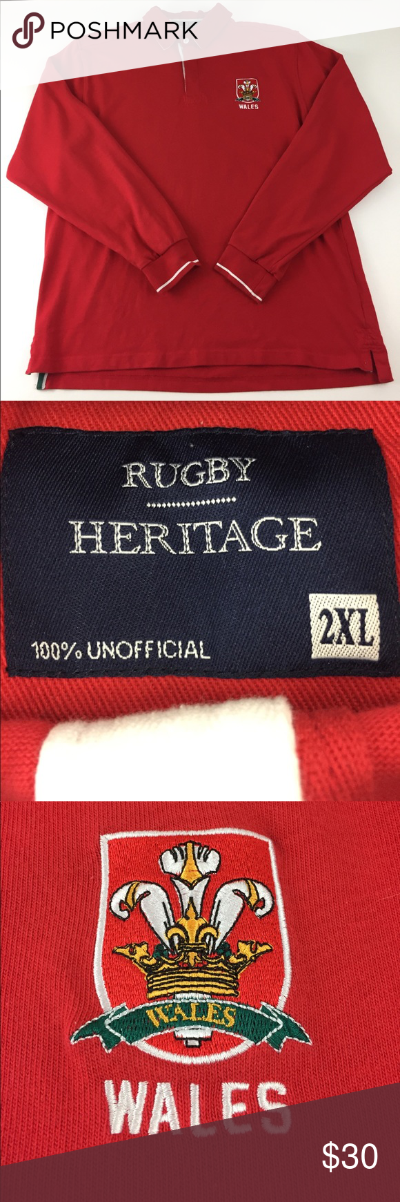 Wales Rugby Shirt R3 Vintage England Wales Rugby Mens 2xl Long