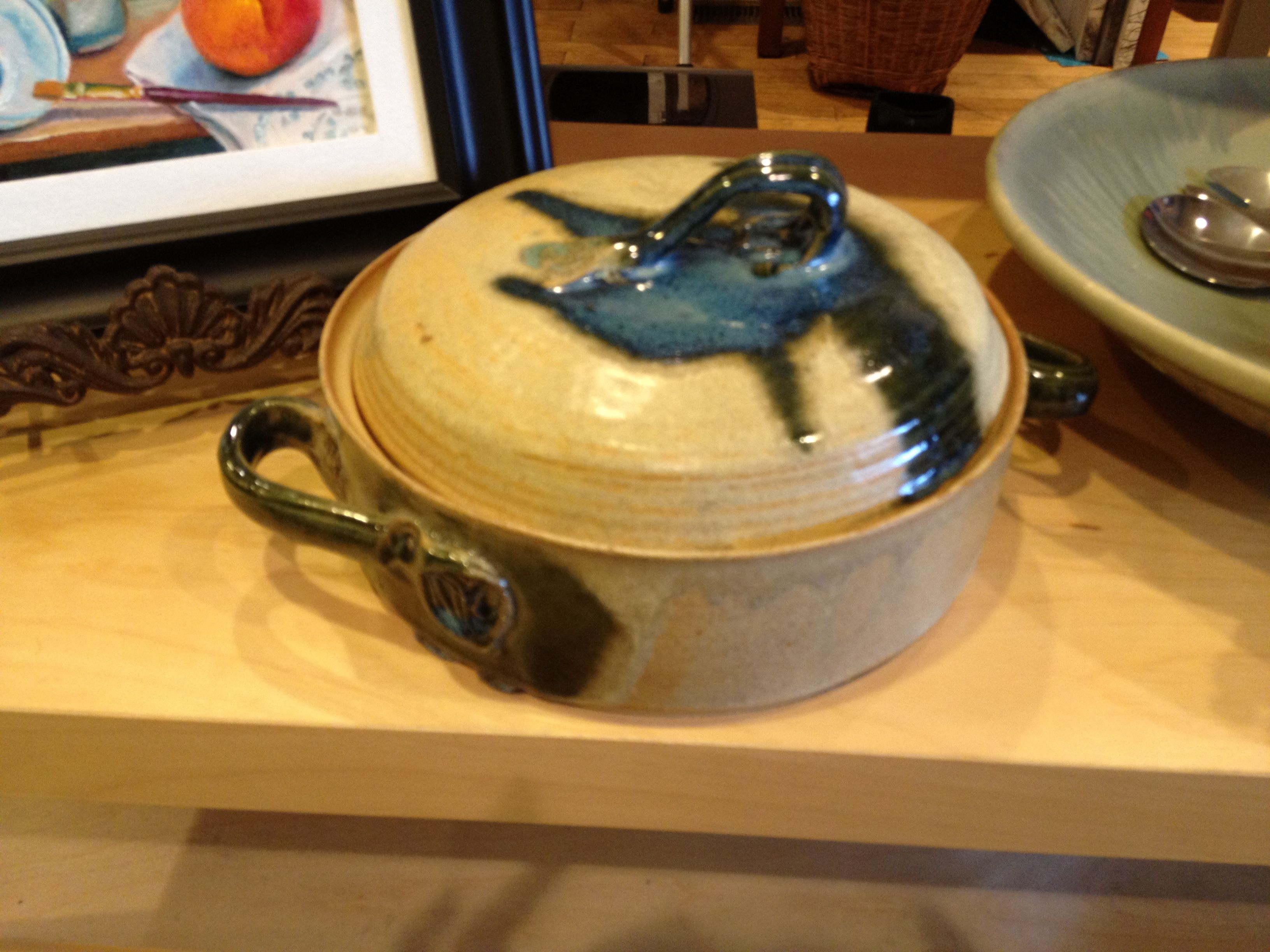 This pottery is so awesome and it's completely microwave, dishwasher and oven safe! The colors are so vibrant and would look great in any decor! Bob Snyder's style is form follows function...and this is the most functional pottery in the gallery.