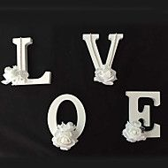 26 Freestanding Wood Wooden Flower Letters White ... – AUD $ 8.57