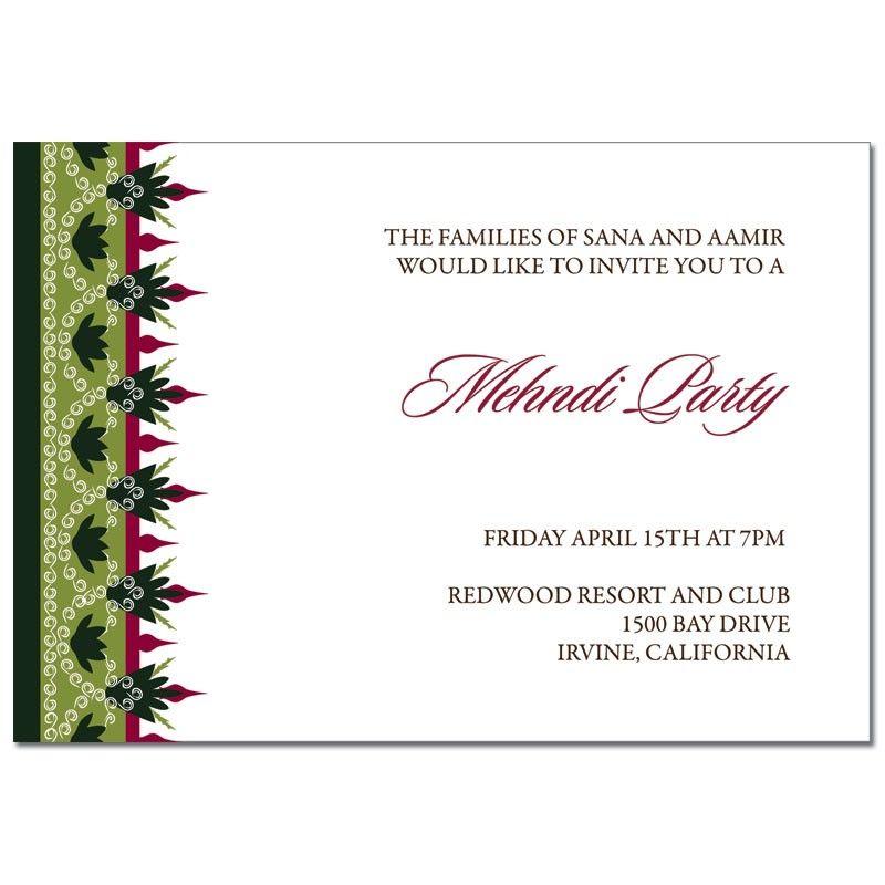 Mehndi Invitation Regal Border Mehndi invitaion Pinterest