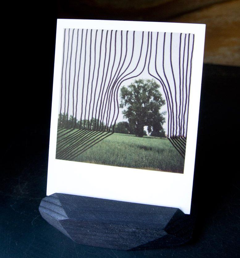 Wood&cut segnaposto, portaprezzi, portafoto, legno di abete naturale, decorato o nero.