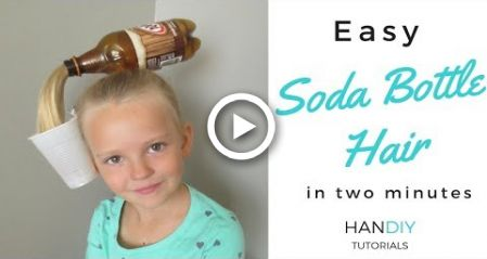 Easy Soda Bottle Hair Tutorial: Crazy Hair Day!