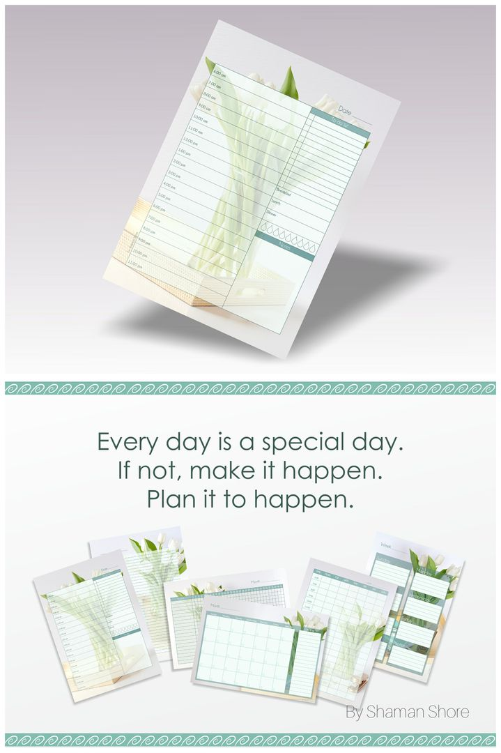 A4 Daily Planner List, Hourly Day Planner Pages, Daily Planner Pdf - daily planner sheets