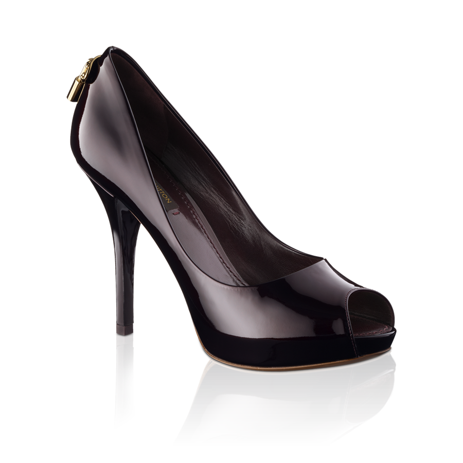 05d4fcae535f Oh really! open toe pump in patent calf via Louis Vuitton