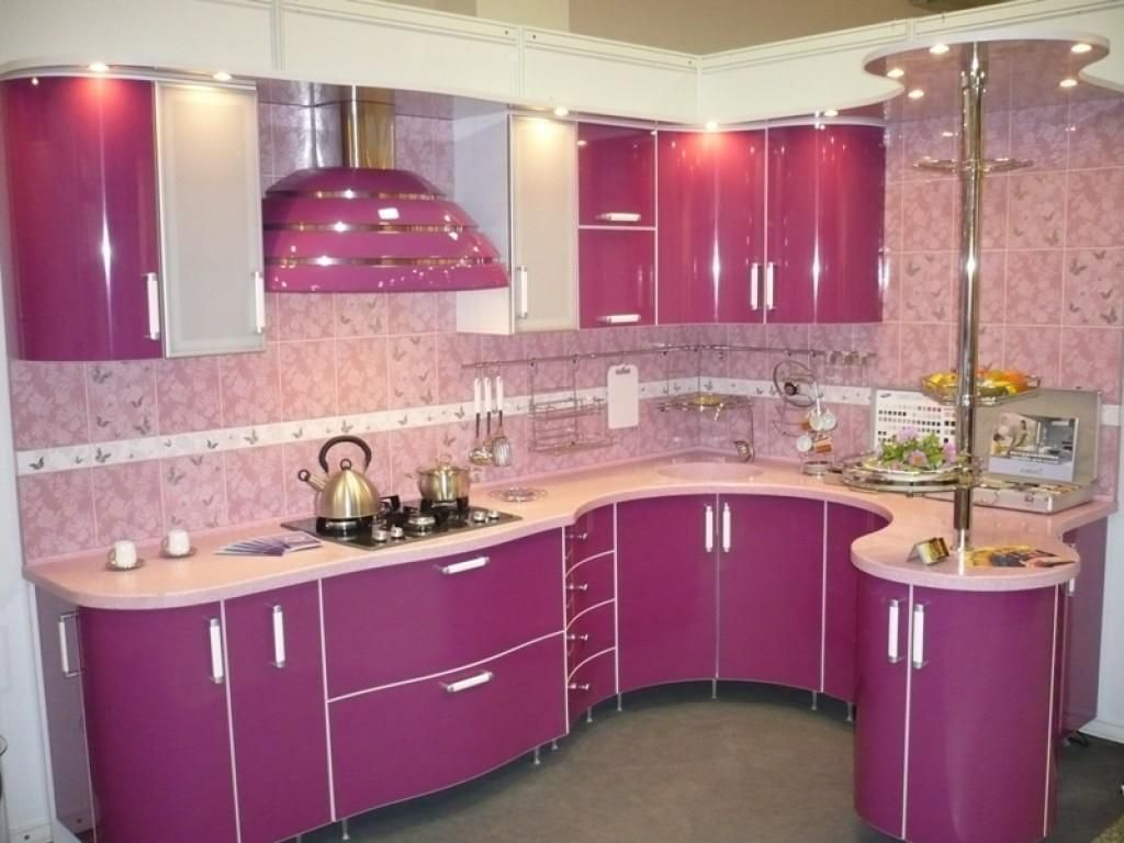 Pink Kitchen Lovely Kitchen Decoration With U Shaped Pink Kitchen Cabinetry