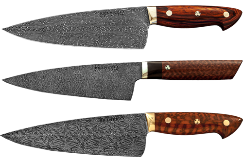 Bob Kramer Knives. I want one of these Damascus steel folded over ...