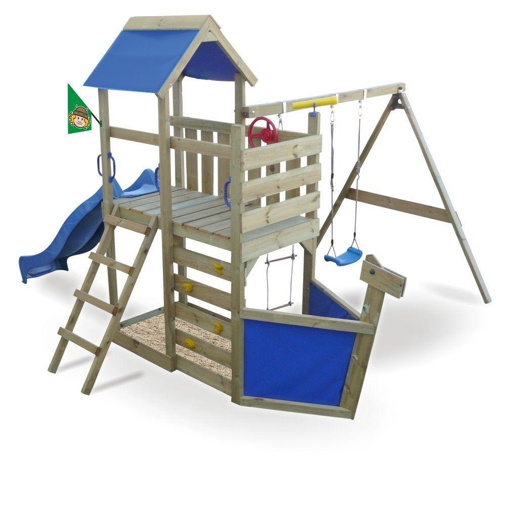 details zu wickey seaflyer spielturm kletterturm schiffsnase schaukel sandkasten rutsche. Black Bedroom Furniture Sets. Home Design Ideas