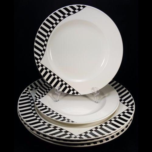 Mikasa-Waverly-3-Dinner-Plates-2-Salad-Plates-  sc 1 st  Pinterest & Mikasa-Waverly-3-Dinner-Plates-2-Salad-Plates-Black-White-Checks ...