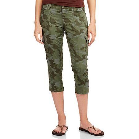 33bcd38abc1  5.15 ... Faded Glory Women s Woven Capri Pants - Walmart.com ...