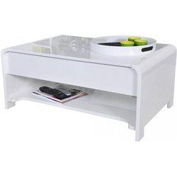 en plateau Table bois basse blanche imitation relevable CBrexoQWd