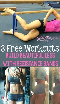 How to shape your thighs, butt and hamstrings using resistance bands! 3 FREE workouts you need to try to target your lower body to burn fat and calories. @askdeniza