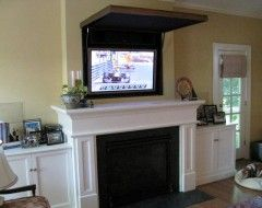 Family Picture Over The Fireplace Turns Into A Tv I Would Paint
